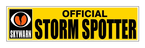 Skywarn Official Storm Spotter - Bumper Sticker