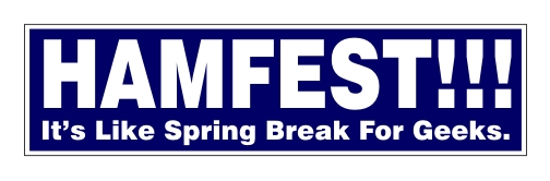 """HAMFEST!!!"" - Bumper Sticker"