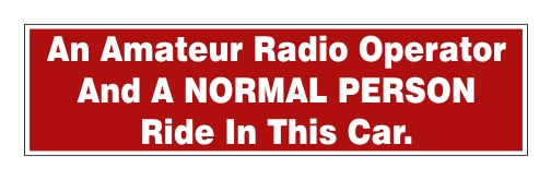 Amateur Radio Operator & Normal Person - Car Bumper Sticker