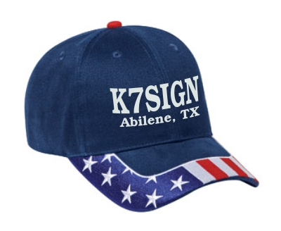Callsign Cap with US Flag