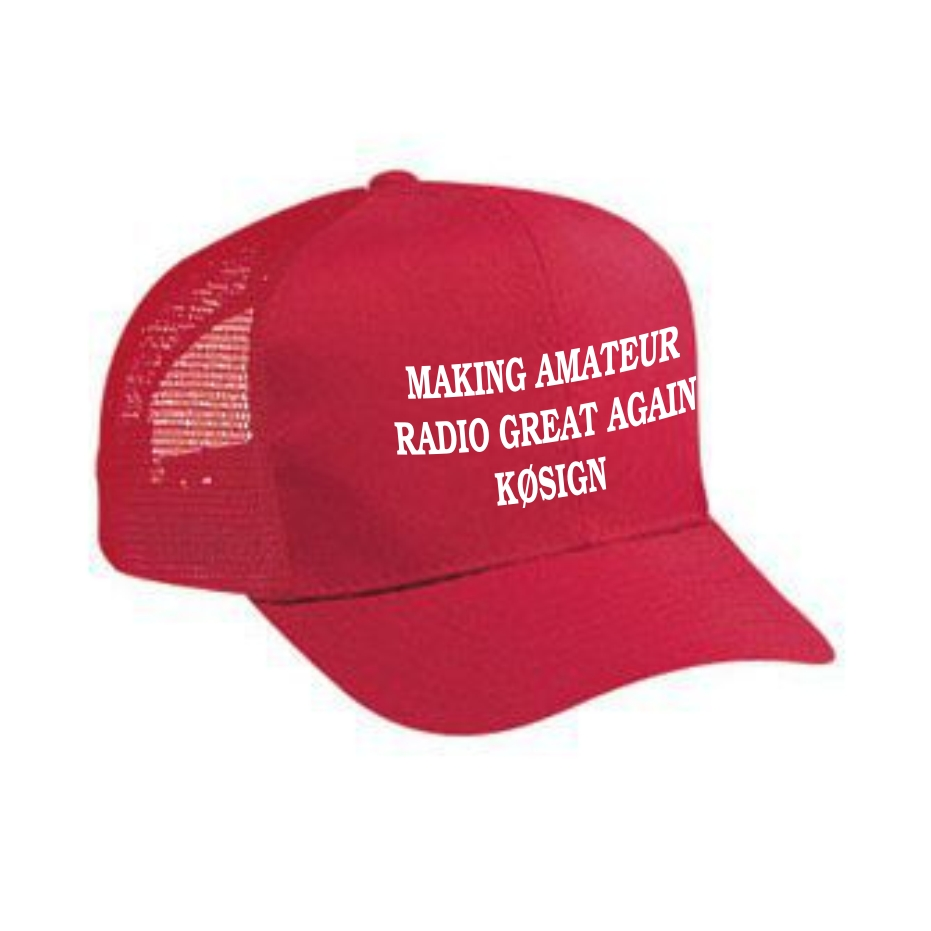 Make Amateur Radio Great Again - Callsign Cap - Red