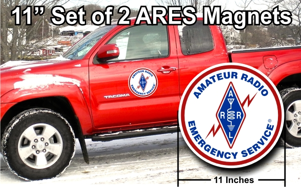 "ARES 11"" Vehicle Magnets - PAIR"