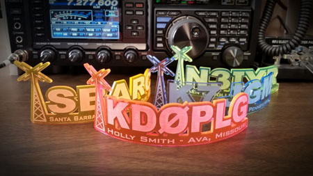 Decorative Acrylic Call Sign Display