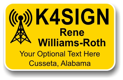 Ham Radio Antenna Name Badge