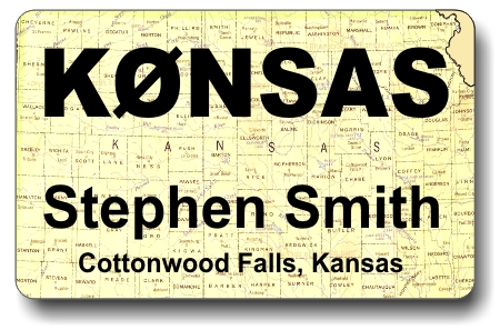 Callsign ID Badge with Kansas Map