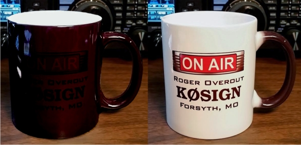 Ham Radio Color Changing On Air Callsign Mug - 11 oz.
