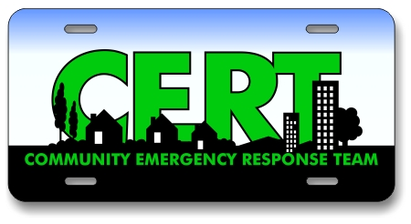 CERT Logo License Plate