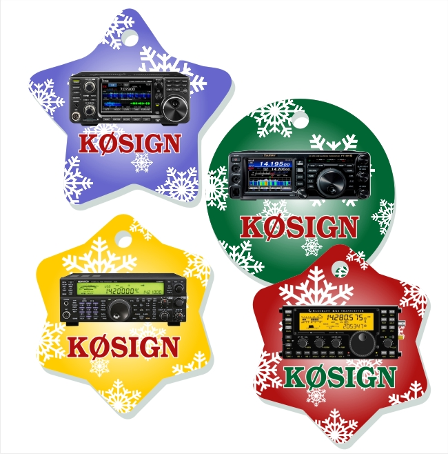 Radio & Callsign Christmas Tree Ornaments