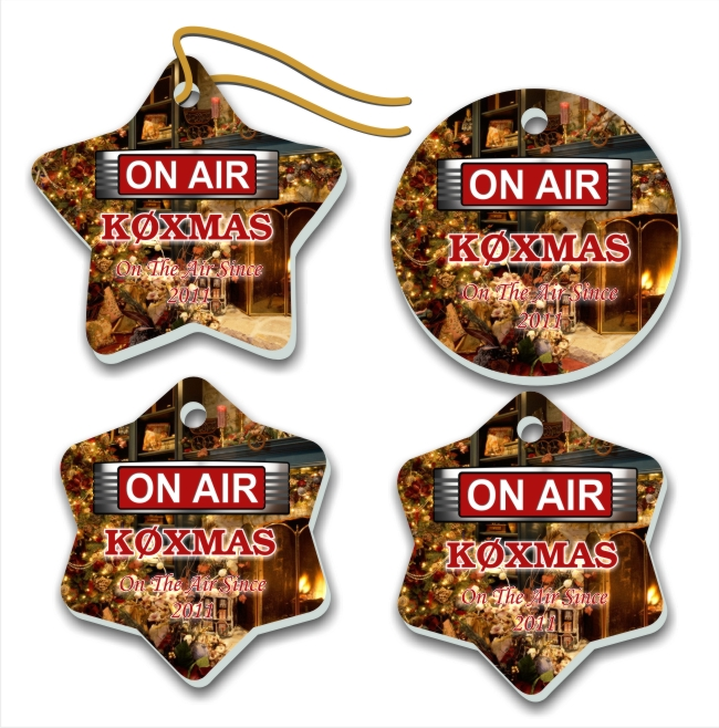 On The Air Callsign Christmas Tree Ornaments