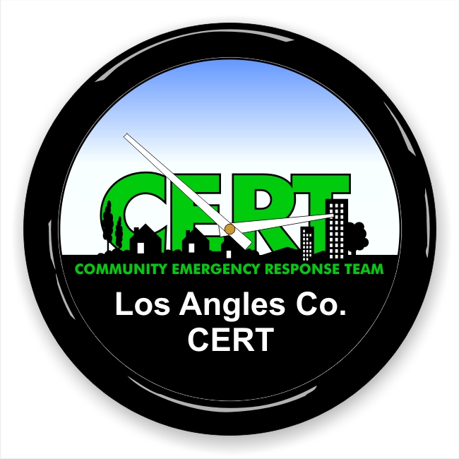 CERT Logo Wall Clock with Custom Message
