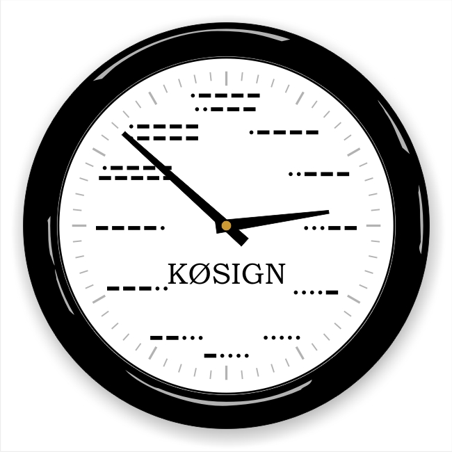 Morse Code Wall Clock with Callsign