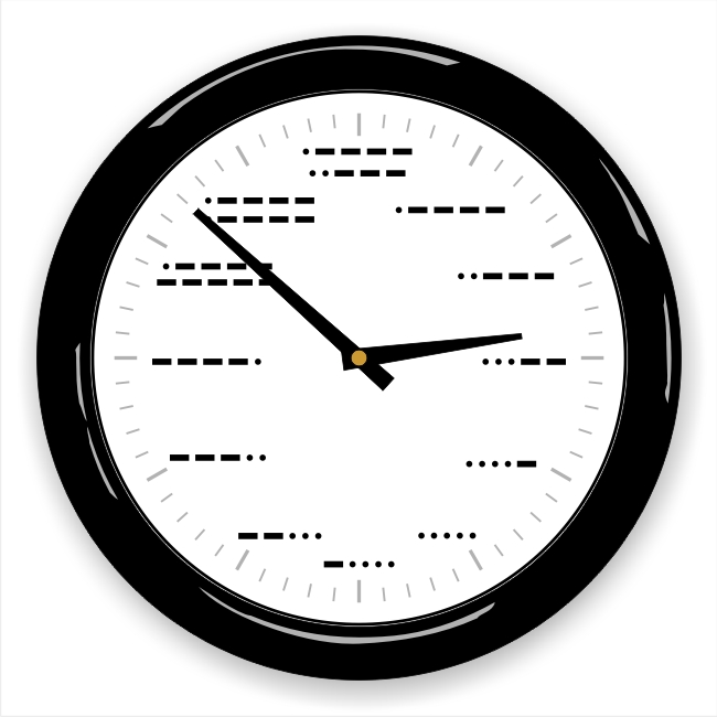 Morse Code Wall Clock - Click Image to Close