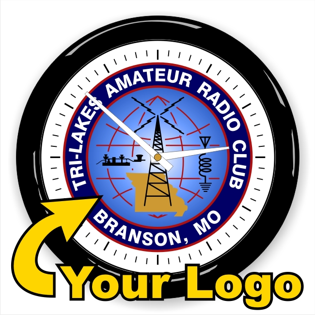 Amateur Radio Club Logo Wall Clock