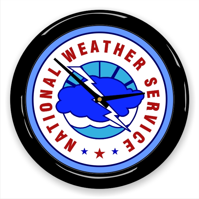 National Weather Service (NWS) Logo Wall Clock