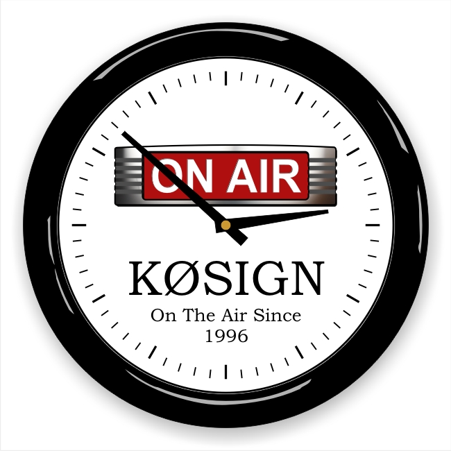 On The Air Wall Clock with Callsign & Message