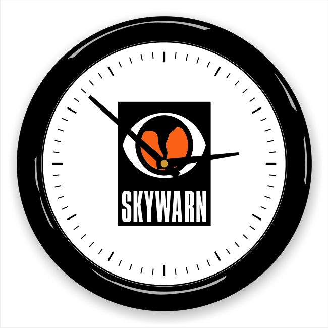 SKYWARN Logo Wall Clock