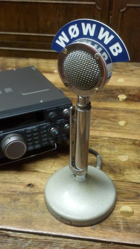 D-104 Microphone Callsign Station Flag - Vintage Look - Click Image to Close