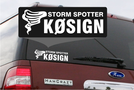 Storm Spotter Callsign Window Decal