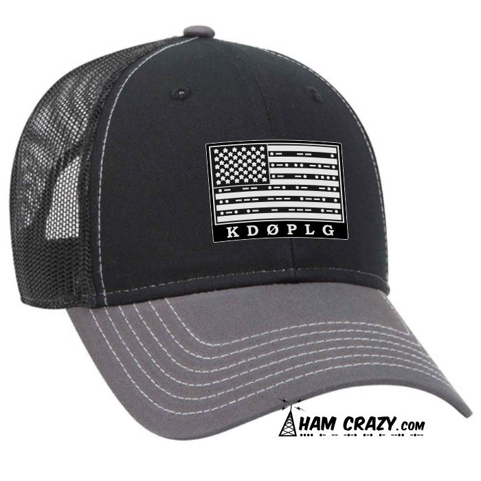 e3a772b5d1c9a US Flag Leather-look Patch Hat with Callsign