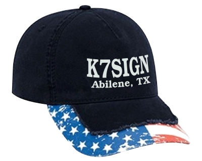 Callsign Cap - Low Profile with Stressed US Flag Bill