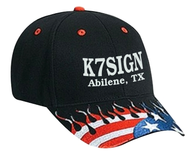 Callsign Cap with US Flag Flames