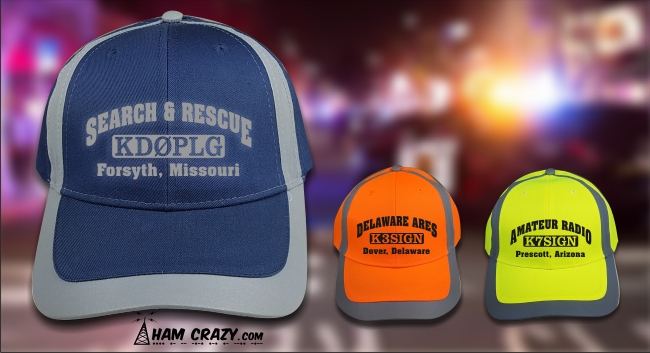 High-Visibility Reflective 3 Line Custom Cap - Click Image to Close