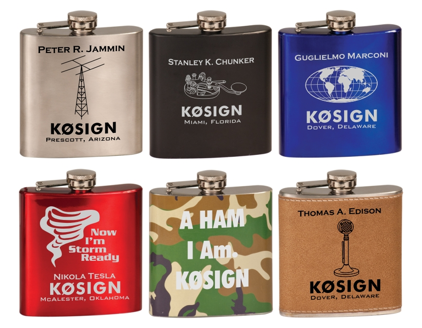 Ham Radio Stainless Steel Flask