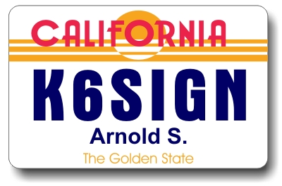 Callsign ID Badge with California License