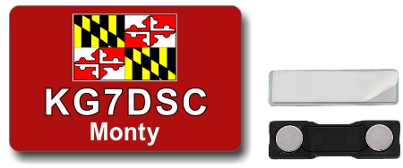 Callsign ID Badge with Maryland Flag