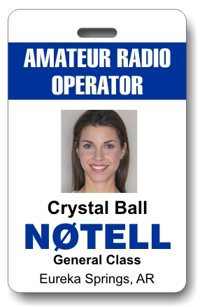 Callsign Photo ID Badge Vertical White & Blue