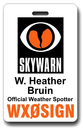 Callsign Skywarn ID Badge White