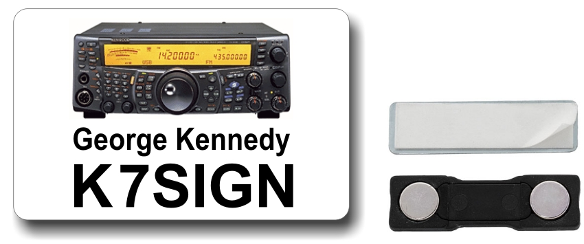 Kenwood TS-2000 Ham Radio Callsign Name Badge