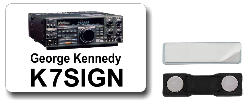 Kenwood TS-440 Ham Radio Callsign Name Badge