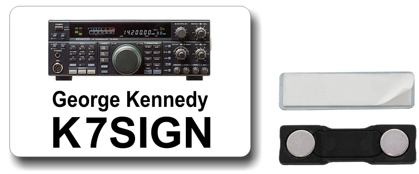 Kenwood TS-450 Ham Radio Callsign Name Badge