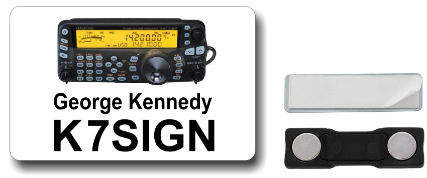 Kenwood TS-480 Ham Radio Callsign Name Badge