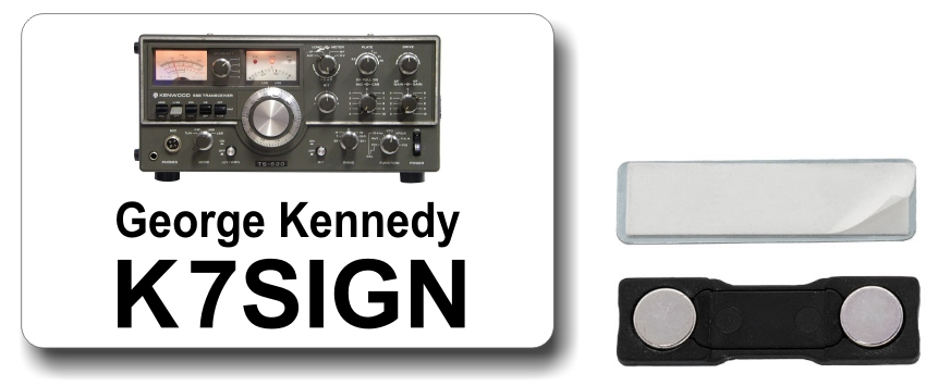 Kenwood TS-520 Ham Radio Callsign Name Badge
