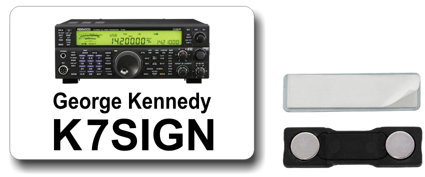 Kenwood TS-590 Ham Radio Callsign Name Badge