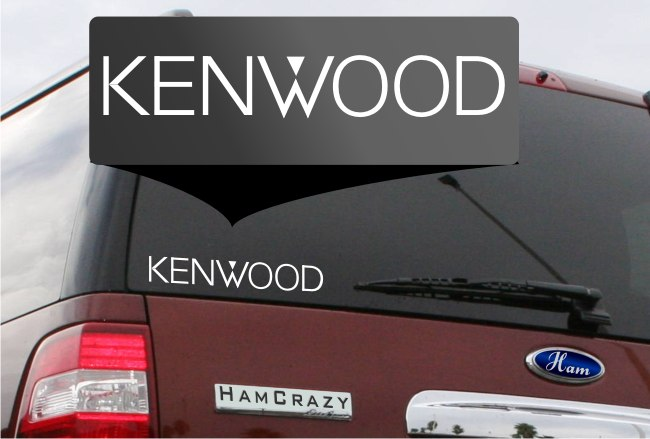 Kenwood Logo Window Decal