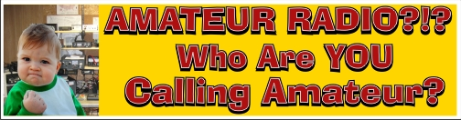 Who Are You Calling Amateur? - Bumper Sticker
