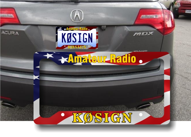 Callsign License Plate Frame - American Flag
