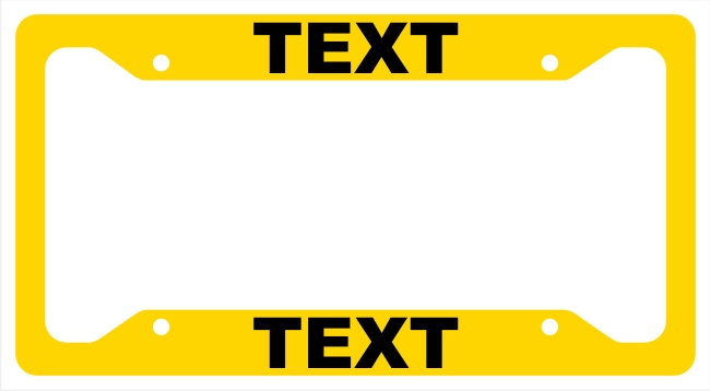 License Plate Frame with Custom Text