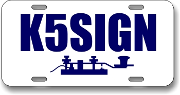 Ham Radio Callsign License Plate with Key