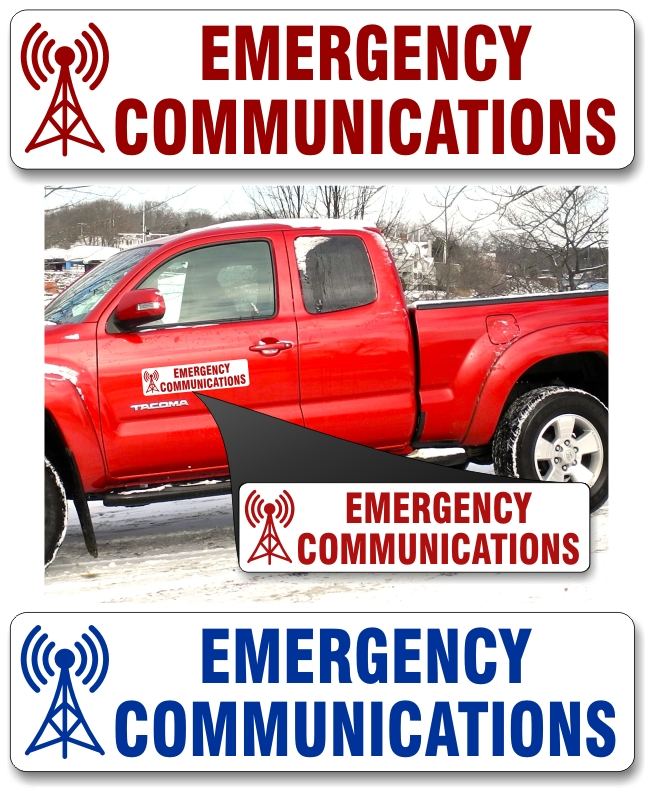 Emergency Communications Vehicle Magnet