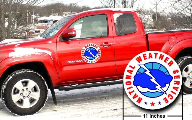 "National Weather Service 11"" Vehicle Magnets - PAIR"