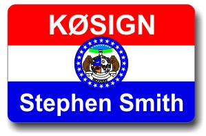 Callsign ID Badge with Missouri Flag
