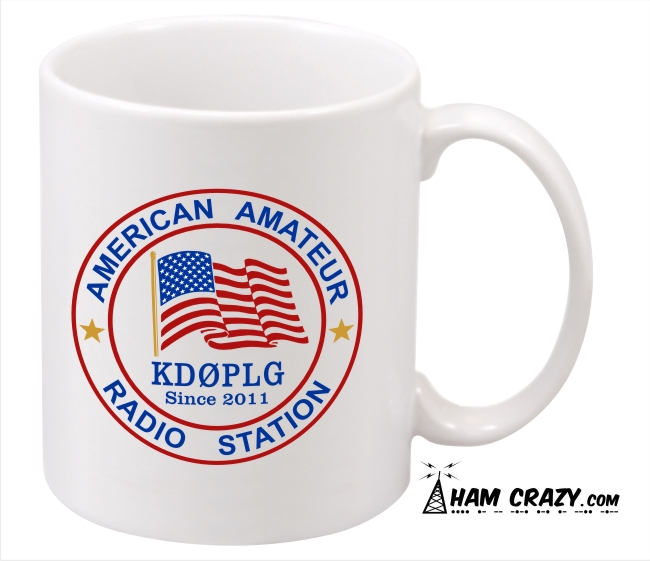 American Ham Callsign Ceramic Coffee Mug