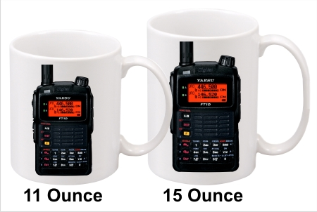 Yaesu FT-1D Black Handy Talkie Coffee Mug