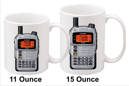Yaesu FT-1D Silver Handy Talkie Coffee Mug