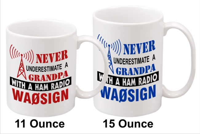 Never Underestimate Custom Coffee Mug with Callsign