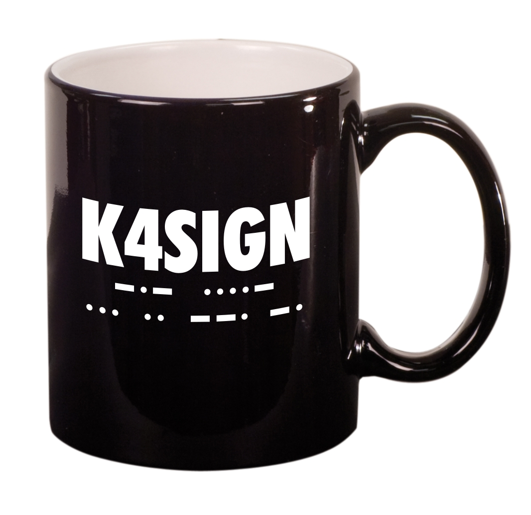 CW Call Sign Coffee Mug (Round)